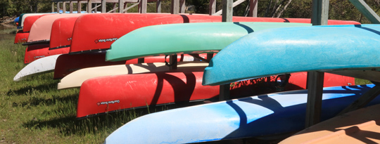 Canoes at Woodyard