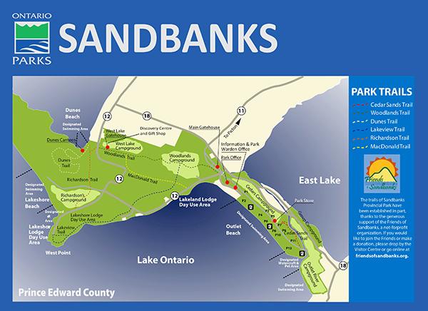 Sandbanks Park Trail Map