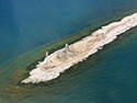 Scotch Bonnet Island Aerial Image